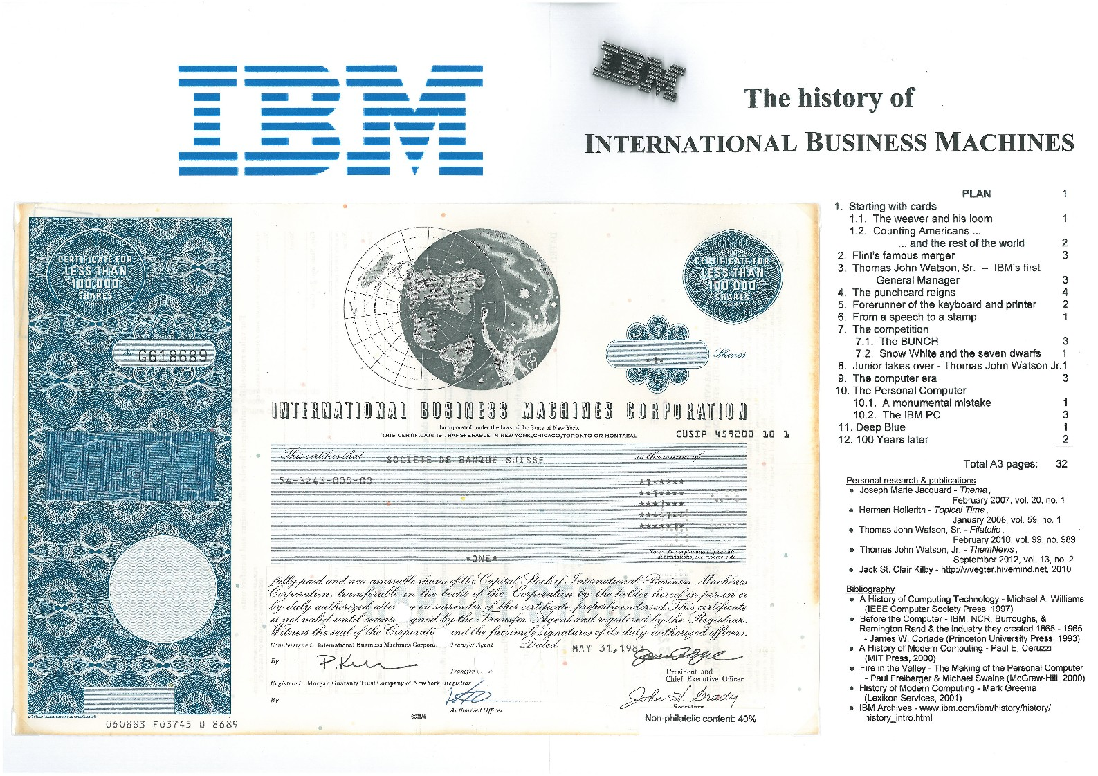 an introduction to the history of ibm global services International business machines corporation the company invests billions of dollars in services and software based on linux through the the global ibm.